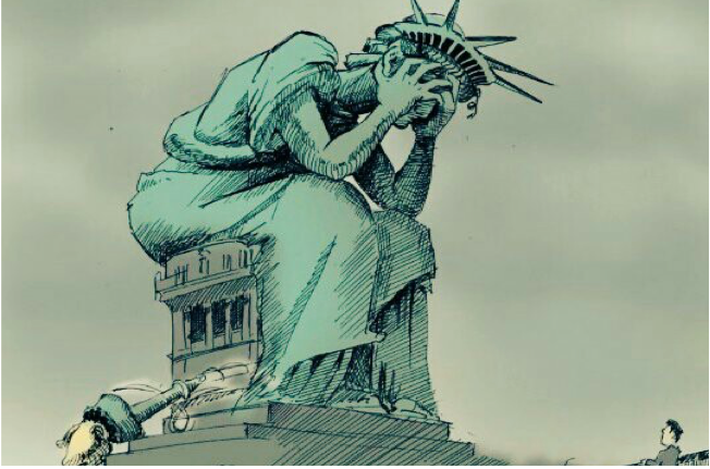 Image result for broken statue of liberty