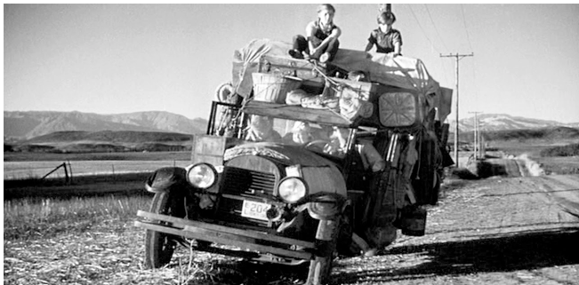 an analysis of the mass migration to california as a grapes of wrath The grapes of wrath - john steinbeck  40 acres and join the mass migration to california looking  to their land and that the mass farms and mechanisation by.