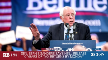 Bernie says … will have his taxes by the 15th