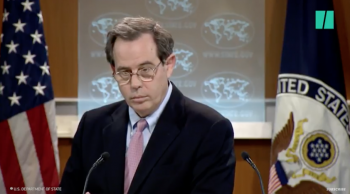 State Dept official goes silent … stunned by reporter's question on hypocrisy