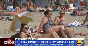 Labor Day crowds create virus fears